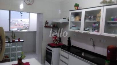 COZINHA COM ENTRADA DA AREA DE SERVIÇO - Apartamento 2 Dormitórios