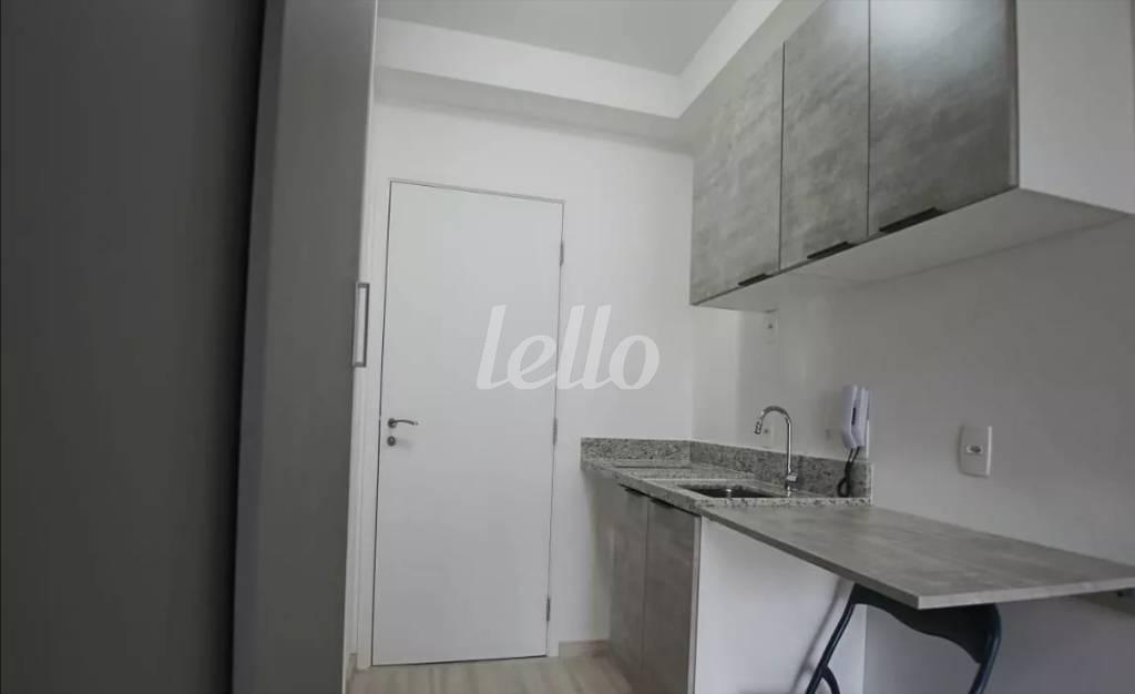 ENTRADA E COZINHA - Apartamento 1 Dormitório