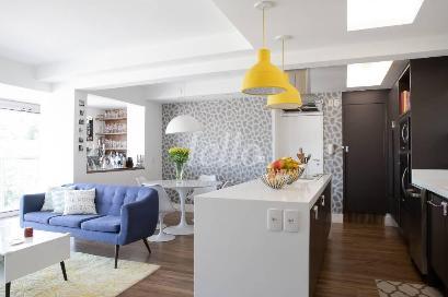 LIVING E COZINHA AMERICANA - Apartamento 3 Dormitórios