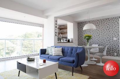 LIVING INTEGRADO A VARANDA - Apartamento 3 Dormitórios