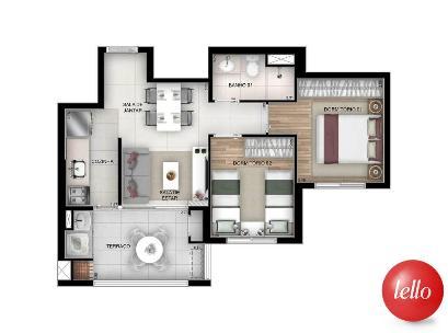 PLANTA-01 - Apartamento 2 Dormitórios