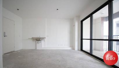 SALA E VARANDA - Apartamento 2 Dormitórios
