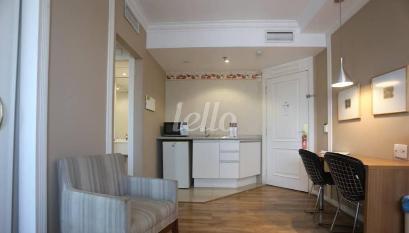 SALA E COZINHA - Apartamento 1 Dormitório