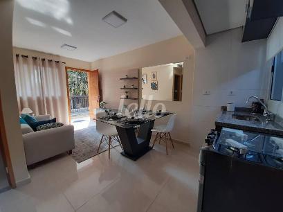 SALA ESTAR E COZINHA AMERICANA(MODELO) - Apartamento 2 Dormitórios