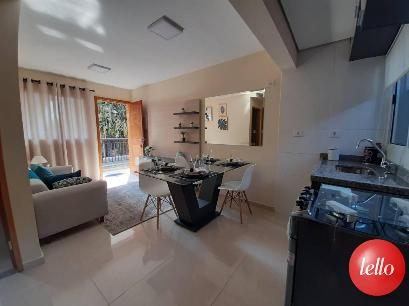 SALA ESTAR E SALA JANTAR - Apartamento 2 Dormitórios