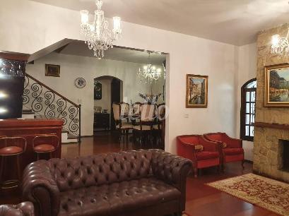 SALA DE LAREIRA - Casa 5 Dormitórios