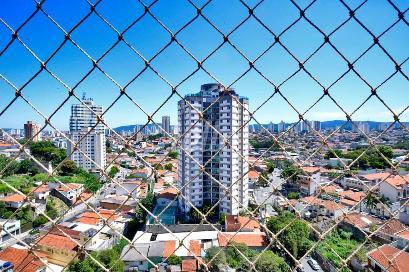 VISTA SALA DOIS AMBIENTES - Apartamento 3 Dormitórios