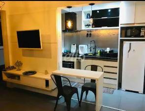 SALA INTEGRADA A COZINHA - Apartamento 1 Dormitório
