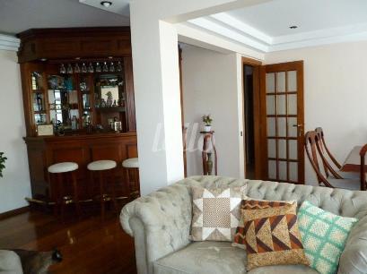 SALA DE JANTAR, ESTAR E BAR - Apartamento 3 Dormitórios