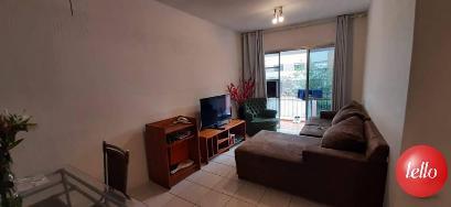 SALA E VARANDA - Apartamento 1 Dormitório