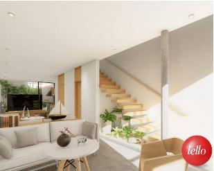 SALA DE ESTAR / ESCADAS - Casa 2 Dormitórios