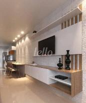 SALA ESTAR E COZINHA AMERICANA - Apartamento 2 Dormitórios
