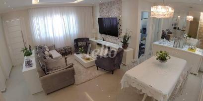 SALA DETALHES ILUMINAÇÃO - Casa 3 Dormitórios